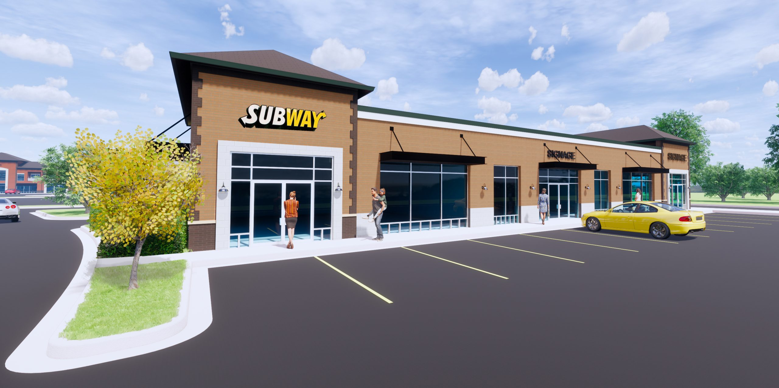 Subway and Retail Space