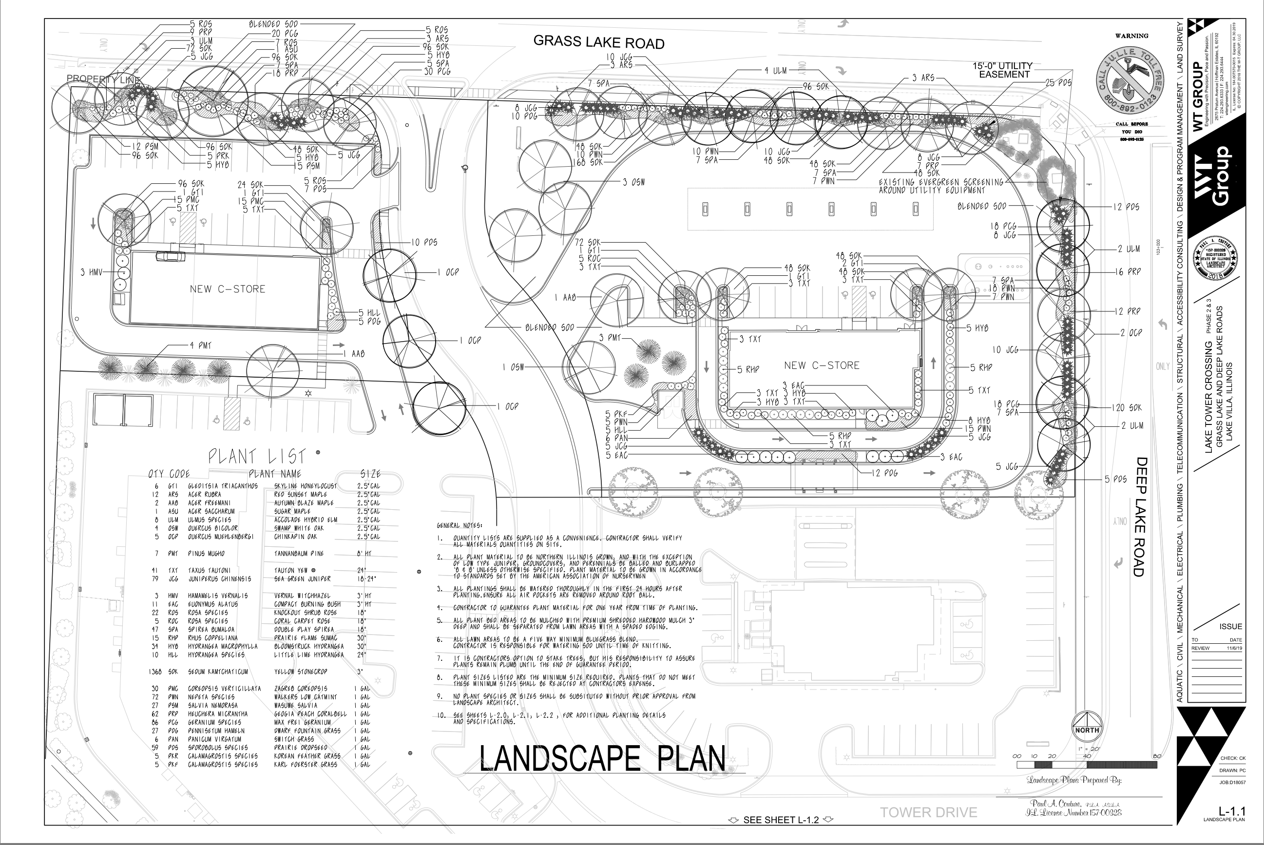 Tower Drive Development Inc.- Landscape Plans